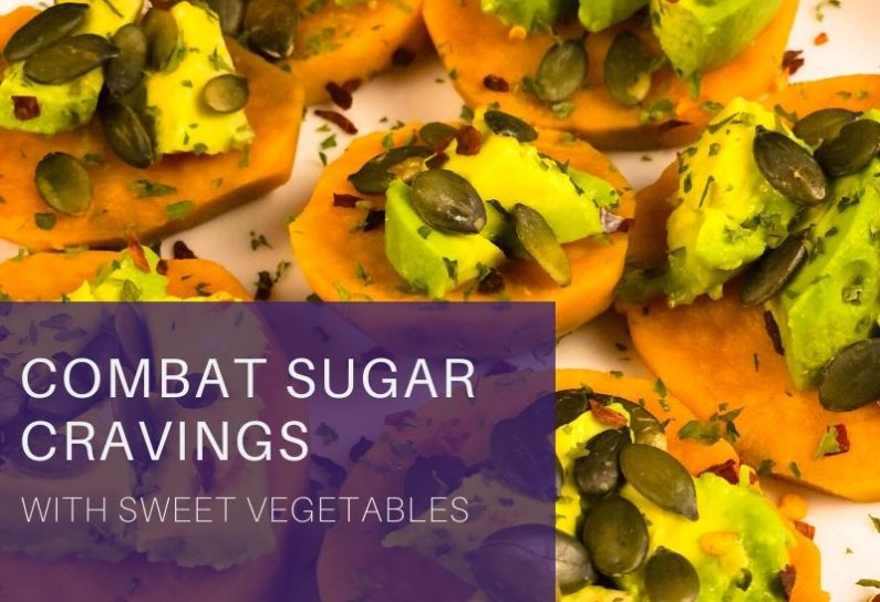 Post about how to combat sugar cravings with sweet vegetables, plus a recipe